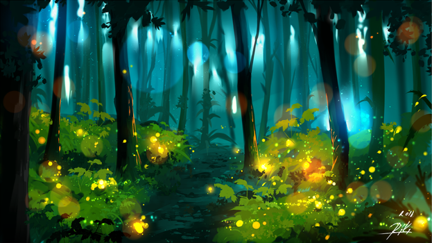 Fireflies by ryky