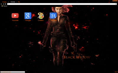 Black Widow Avengers Theme 2 by bandchromethemes