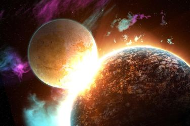 Planet Collision by ChaBoiNeil