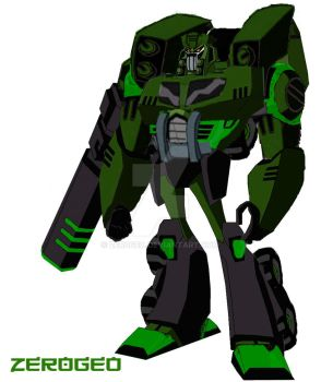 Transformers Animated OC: Overload by ZER0GEO
