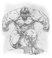 Hulk sketch drawing by caananwhite