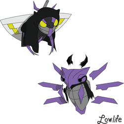 Barian Ninjask and Shedinja by LowlifeGallery