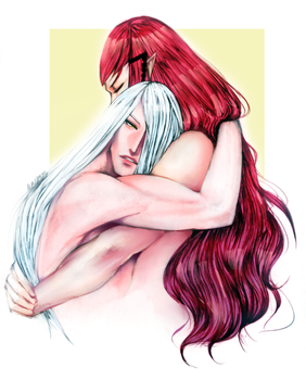 Dante and Noir Embrace by Dark-SpectrumDS