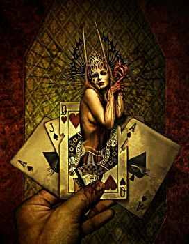 queen of cards by rebalshani