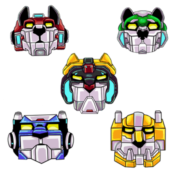 voltron lions by xwolf19