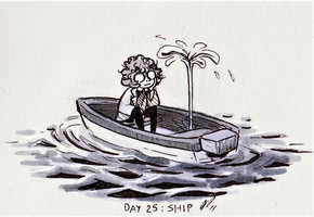 Inktober Day 25: Ship by Baraayas