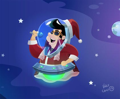 Elvis Lives: Blue Christmas by kidchuckle