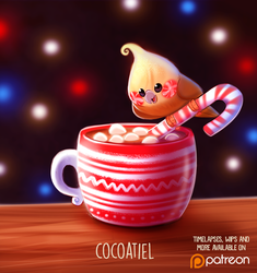 Daily Paint 1484. Cocoatiel by Cryptid-Creations