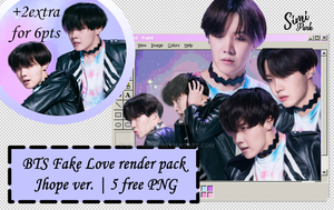J-hope Fake love shooting sketch PNG pack by simipark13