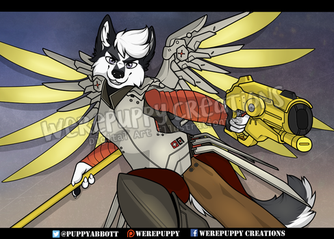 Jendex as Battle Mercy by Werepuppy