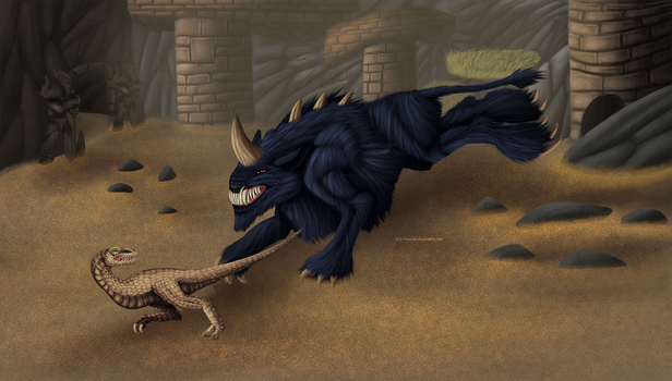 Shadowbeast And Snapper by Noxsha