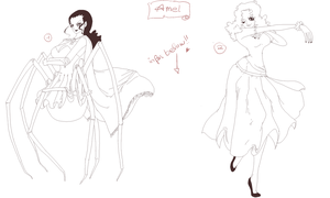 +KW+ OC Amel unfinished (+ update of her past) by Opirou