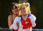 Sailor Moon and Sailor Jupiter Cosplay by PiixXxiiE