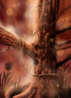 Sepia_tree_1: iPhone painting by catbones