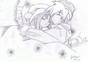 ~Drawn~ Sleeping Couple by OwnedSwiftStars14