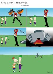 Phineas and Ferb vs Generator Rex by lostatsea101
