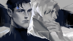 Connor and Hank by bluemist72