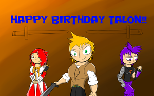 Happy Birthday Talon by Thesimpleartist4