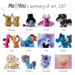 2017's summary of plush by meplushyou