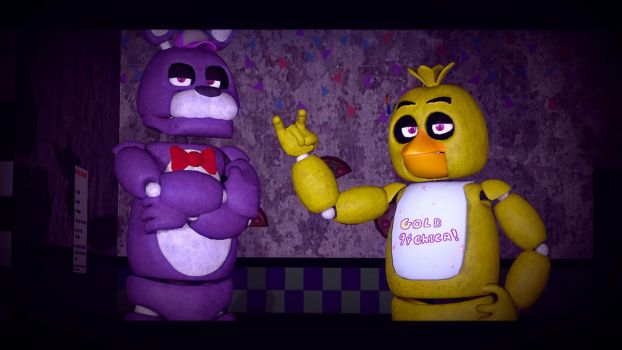 bonnie and gold94chica by crazybot1231