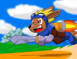 For a Rocket Knight... by DT-Fox