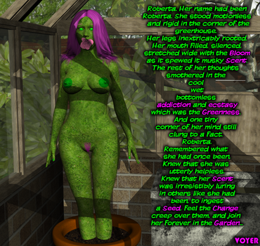 Commission: Roberta the plant gal by hypnovoyer