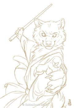 Wielding The Force - WIP1 by GoldenDruid