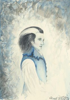 Blue waistcoat watercolour sketch by MouseBorg