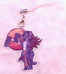 Native Wolf Acrylic Charm by ami-nomiko