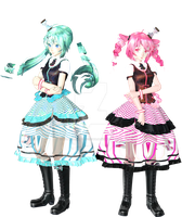 [50+ watcher gift] Tda Lost In TIME Miku n' Teto by NothingInteresting66