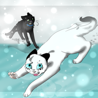 .:icy and suspicious:. COLLAB by Snowstorm-cat
