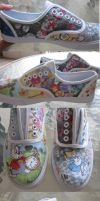 Alice in Wonderland Shoes by feavre