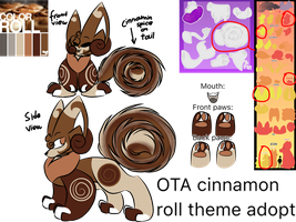 PoisonGlider cinnamon roll theme OTA (CLOSED!) by Perma-Fox