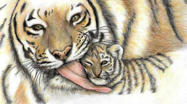 Mother and Cub by jyacini