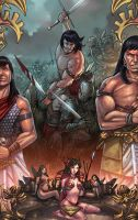 Conan the old and the young by raulman