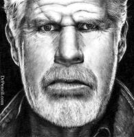 Ron Perlman as Clay Morrow - SONS OF ANARCHY by Doctor-Pencil