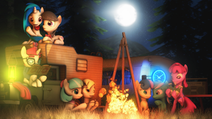Camping in the background by SourceRabbit