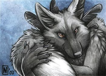 ACEO - Foxfeather by Nimrais