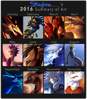 Summary of Art 2016 by Skaynoodle
