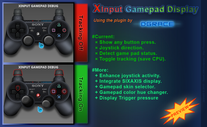 Preview: Rainmeter: Xinput gamepad (WIP v0.3) by JpotatoTL2D
