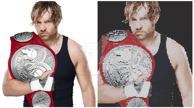 Dean Ambrose (Before  After) by Pinayprincesa