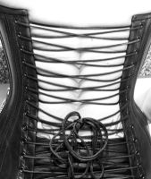 Black and White Corset by TheModelElizaByte
