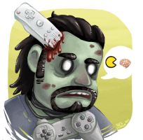 Gamer Zombie by Tacaret