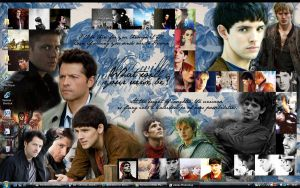 Merlin and Supernatural by apocalove