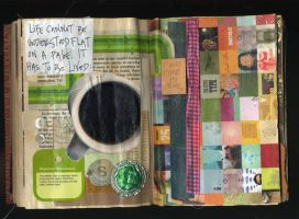 altered book pp. 17 - 18 by Lauraphay