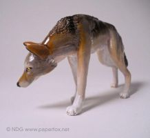 Red Wolf Sculpture by art-paperfox