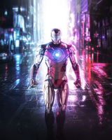 NEON CITY IRON MAN by MizuriOfficial