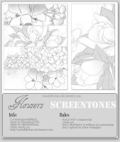 Flowers Screentones by MissDidichan