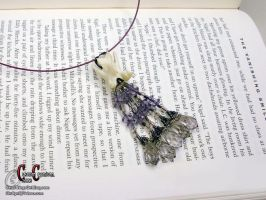 Purple Vertebrae Necklace by SkullGrrl