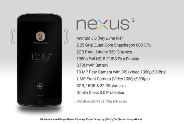 LG Nexus 5 New Concept Phone Design and Features by teerox